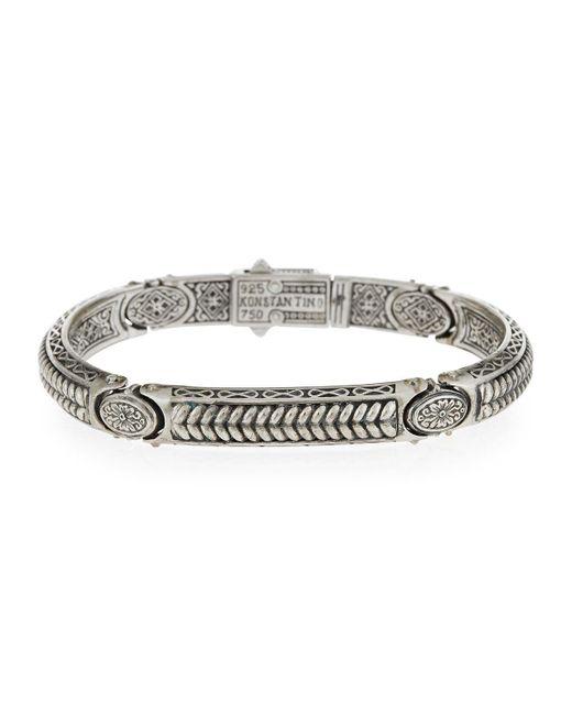Konstantino | Metallic Sterling Silver Braided Id Bracelet for Men | Lyst