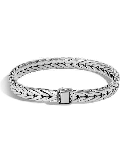 John Hardy | Metallic Men's Small Classic Chain Sterling Silver Cuff Bracelet for Men | Lyst