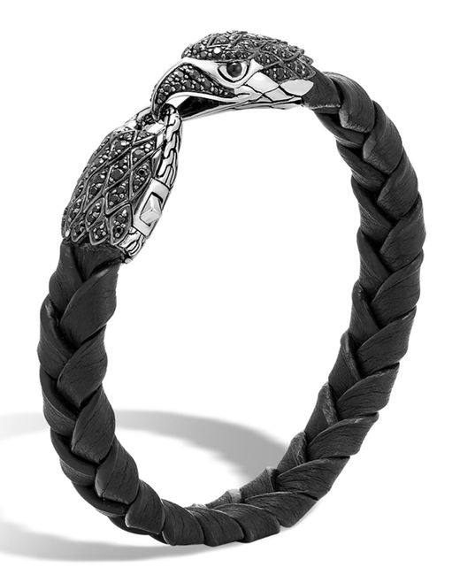 John Hardy | Black Men's Legends Batu Leather Eagle Bracelet for Men | Lyst