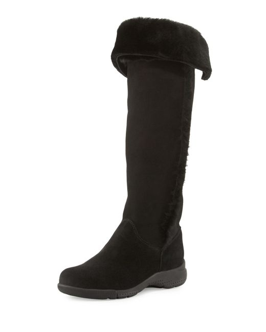 La Canadienne   Black Tacey Suede Over-the-knee Boot   Lyst