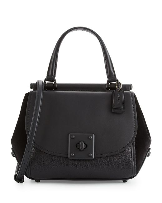 Coach Drifter Leather Top Handle Satchel Bag In Black Lyst