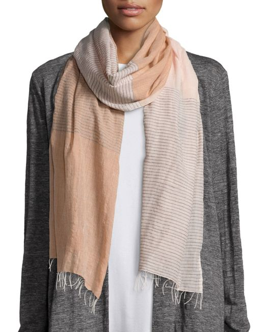 Eileen Fisher Hand Loomed Color Shift Scarf In Multicolor