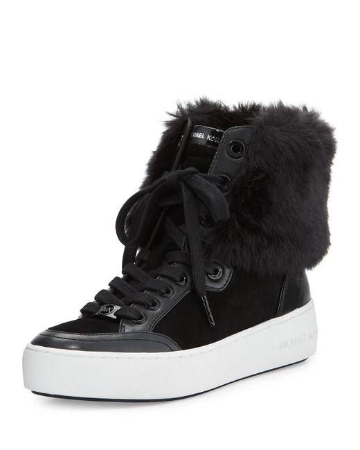 MICHAEL Michael Kors | Black 'kyle' High Top Sneaker | Lyst