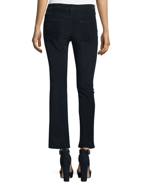 Frame Le Crop Mini Boot Cut Corduroy Pants In Blue Save 66 Lyst