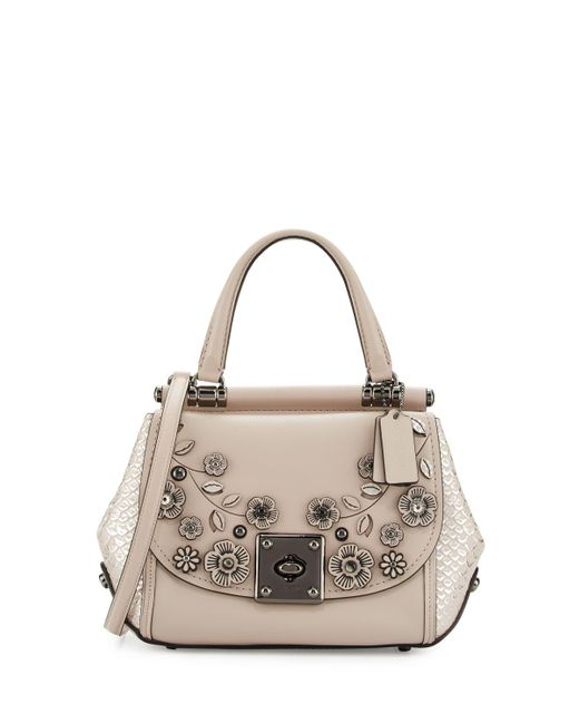 Coach Drifter Floral Top-handle Bag In Gray | Lyst