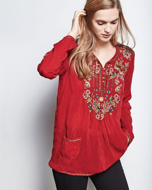 Johnny Was | Carnation Long-sleeve Embroidered Blouse | Lyst