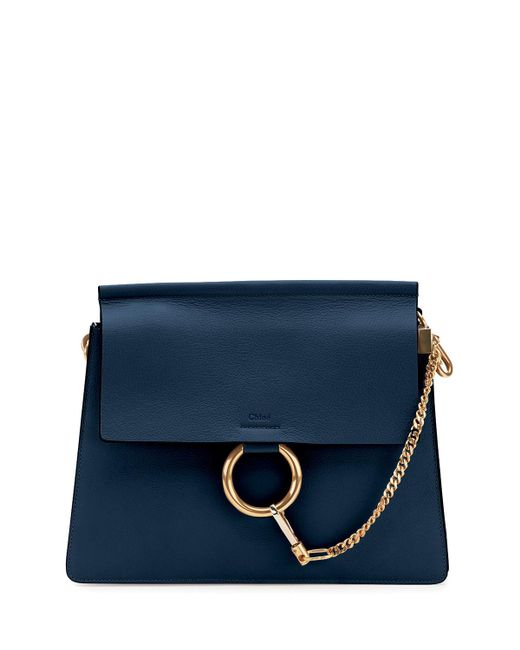 Chloé | Blue Faye Medium Leather Shoulder Bag | Lyst