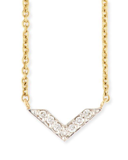 Sydney Evan | Metallic Two-tone Diamond Chevron Necklace | Lyst