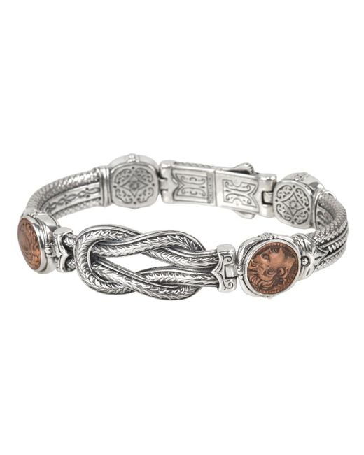 Konstantino   Metallic Men's Sterling Silver & Copper Bracelet W/spinel for Men   Lyst