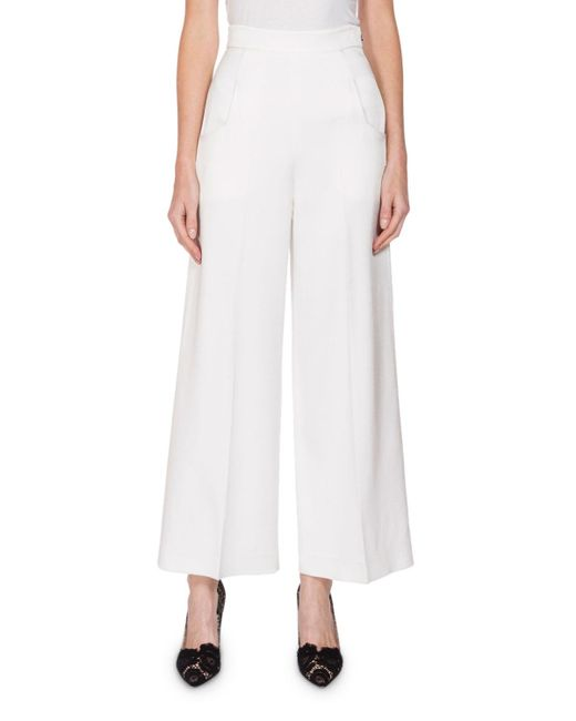Roland Mouret | White Ward High-rise Cropped Pants | Lyst