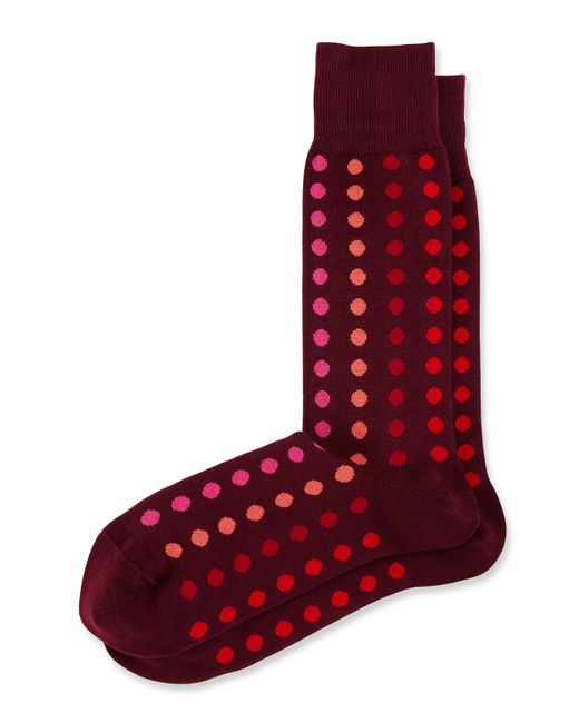 Paul Smith | Red Grad Multicolor Polka Dot Socks for Men | Lyst