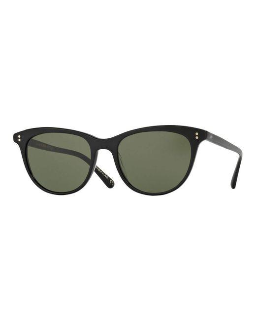 Oliver Peoples | Black Jardinette Monochromatic Square Sunglasses | Lyst