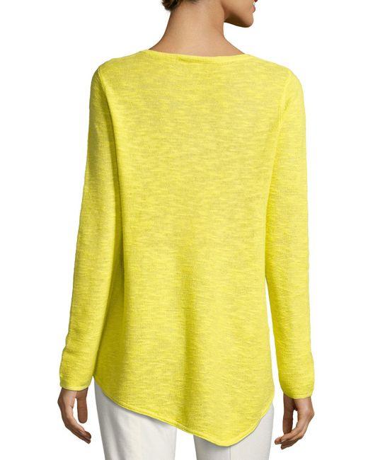 Eileen Fisher   Yellow Long-sleeve Organic Links Tunic   Lyst