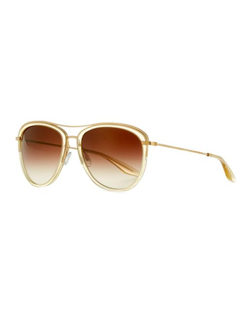 Barton Perreira   Brown Universal Fit Aviatress Aviator Sunglasses   Lyst