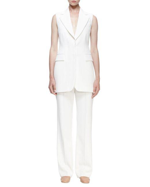 Stella McCartney | White Becka Sleeveless Tuxedo Jacket | Lyst