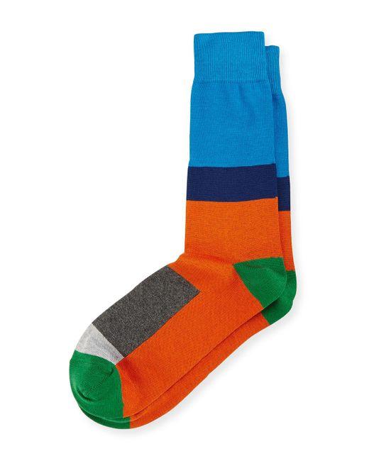Paul Smith   Blue Gogo Modern Colorblock Socks for Men   Lyst