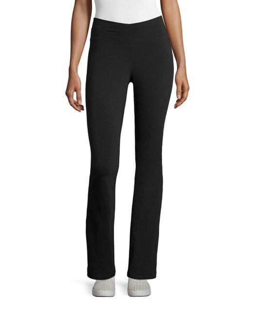 Eileen Fisher | Black Stretch Jersey Yoga Pants | Lyst