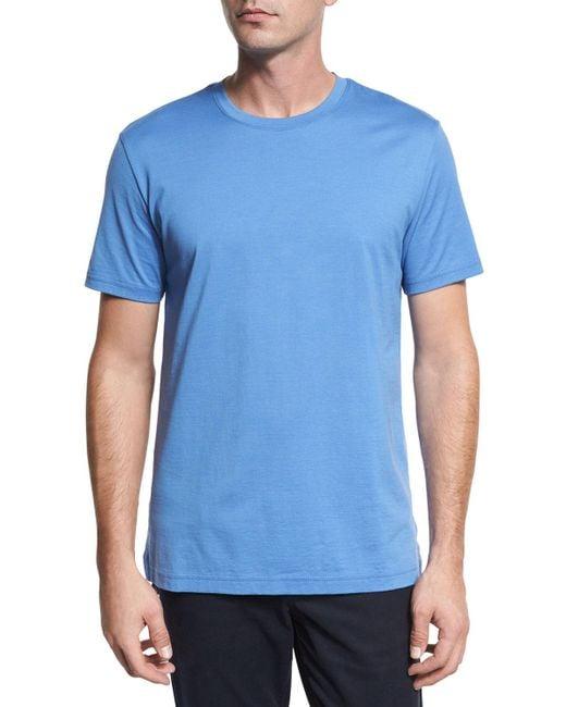 Vince | Blue Clean Jersey Crewneck T-shirt for Men | Lyst