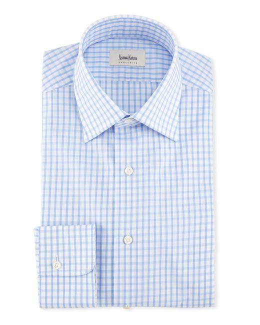 Neiman Marcus | Blue Large Check Dress Shirt for Men | Lyst