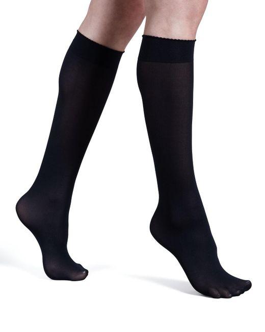 Wolford Black Velvet De Luxe 50 Denier Knee-high Socks