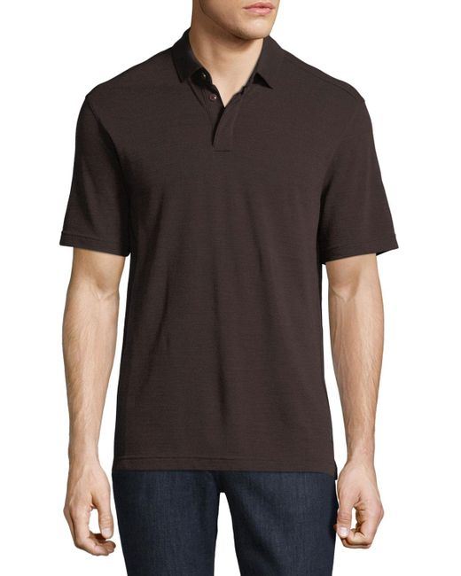 Z Zegna | Red Techmerino Wool Polo Shirt for Men | Lyst