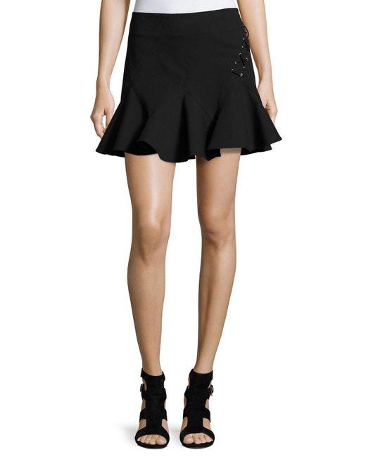 10 Crosby Derek Lam   Black Stretch Jersey Fit-and-flare Mini Skirt   Lyst