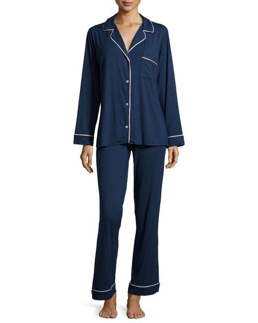 Eberjey - Blue Gisele Long Pajama Set - Lyst
