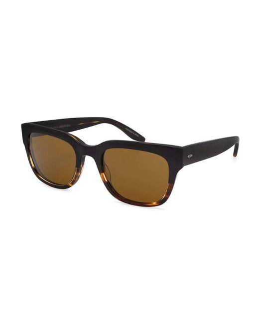 Barton Perreira | Brown Stax Rectangular Acetate Sunglasses | Lyst