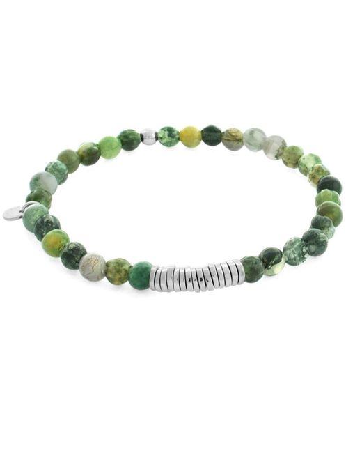 Tateossian | Green Silver Discs Bracelet for Men | Lyst