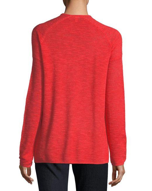 Eileen Fisher | Red Organic Linen Slub Linen Cardigan | Lyst