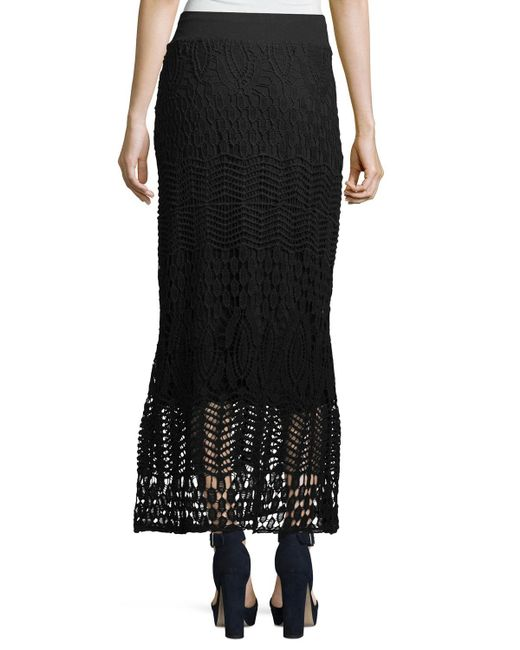 XCVI | Black Cecilia Crochet Skirt | Lyst