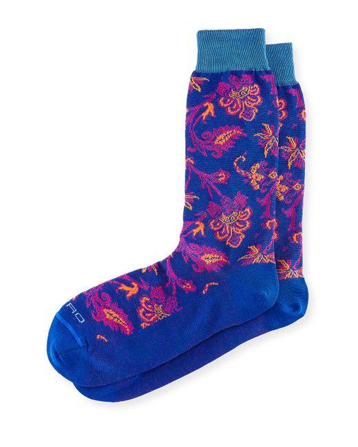 Etro | Blue Short Paisley Socks for Men | Lyst