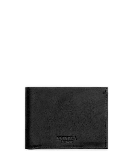 Shinola - Black Men's Slim Leather Bifold Wallet for Men - Lyst