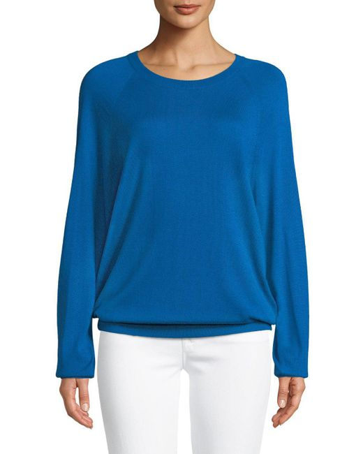 Michael Kors - Blue Round-neck Long-sleeve Merino/cashmere Pullover - Lyst