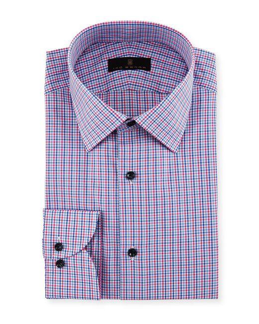 Ike Behar | Blue Gold Label Micro-check Cotton Dress Shirt for Men | Lyst