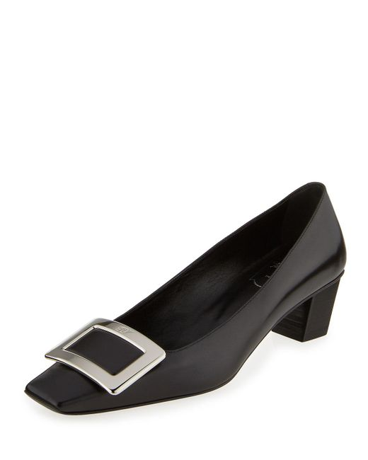 Roger Vivier - Black Decollete Belle Vivier Leather Pumps - Lyst