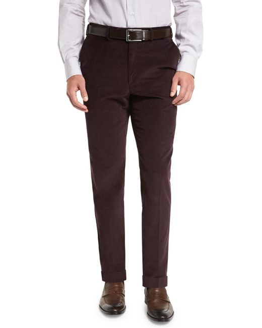 Brioni - Multicolor Pincord Flat-front Trousers for Men - Lyst