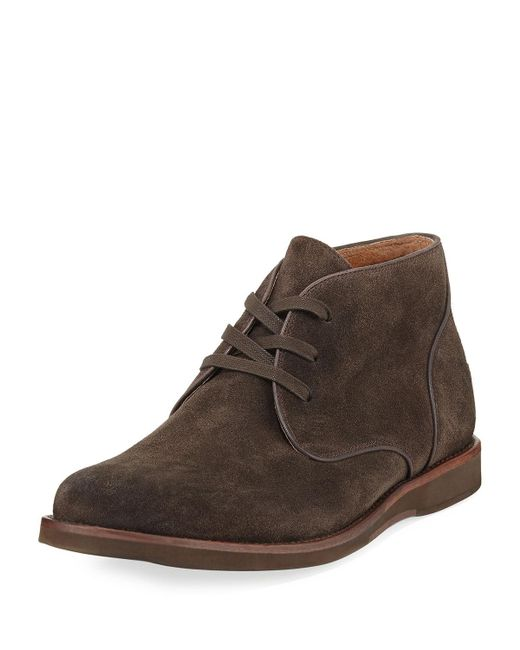 John Varvatos | Brown Brooklyn Suede Chukka Boot for Men | Lyst