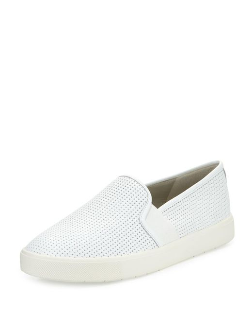 Vince - White Blair 5 Perforated Slip-On Sneakers - Lyst