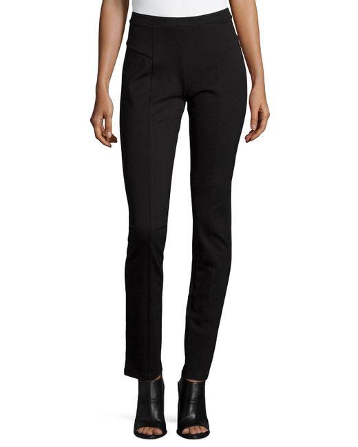NIC+ZOE - Black Perfect Ponte Slim Pants - Lyst