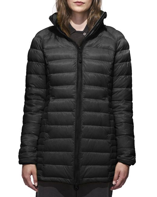 Canada Goose - Black Brookvale Quilted Hoodie Puffer Jacket - Lyst