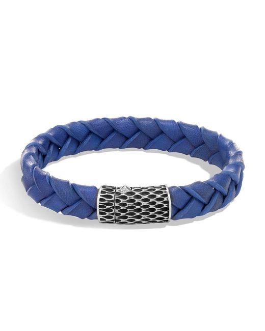 John Hardy - Blue Men's Legends Woven Leather Bracelet for Men - Lyst