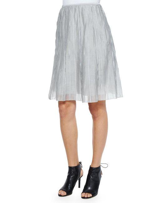 NIC+ZOE - Gray Fluttery Batiste Flirt Skirt - Lyst
