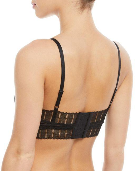 Else Black Lolita Long-line Lace Full-coverage Wire-free Bra