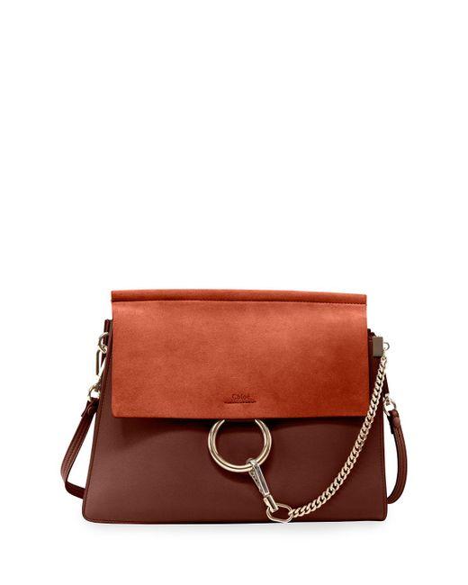 Chloé - Brown Faye Medium Flap Shoulder Bag - Lyst