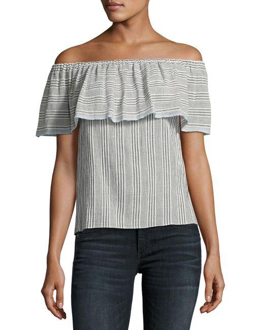 Bailey 44 - Black Fetir Off-the-shoulder Cotton Top - Lyst