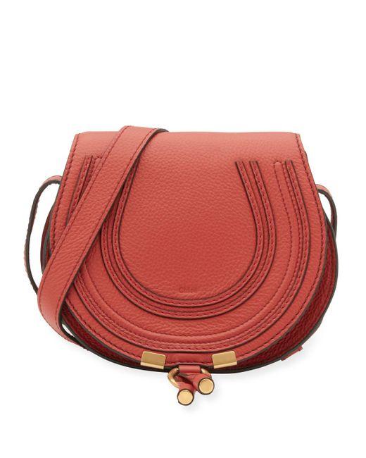 Chloé | Red Marcie Small Leather Crossbody Bag | Lyst