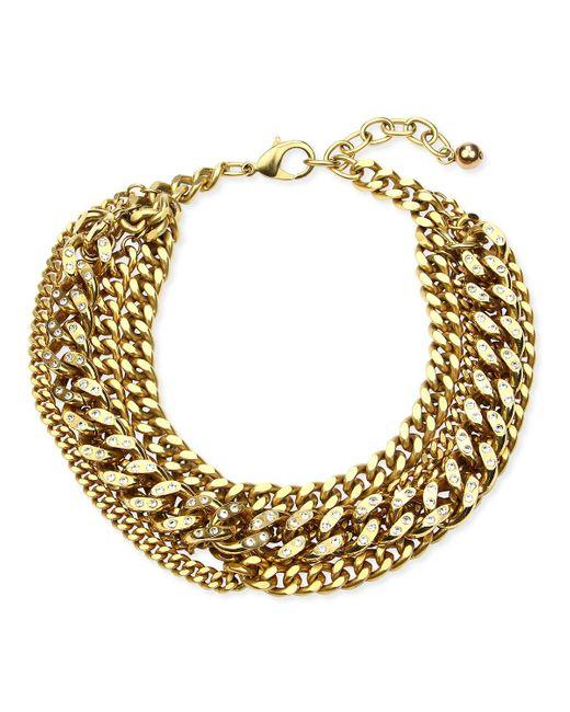 Ben-Amun Metallic Multilayer Chain Necklace