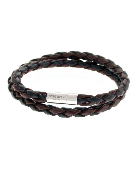 Tateossian | Metallic Men's Braided Leather Double-wrap Bracelet | Lyst