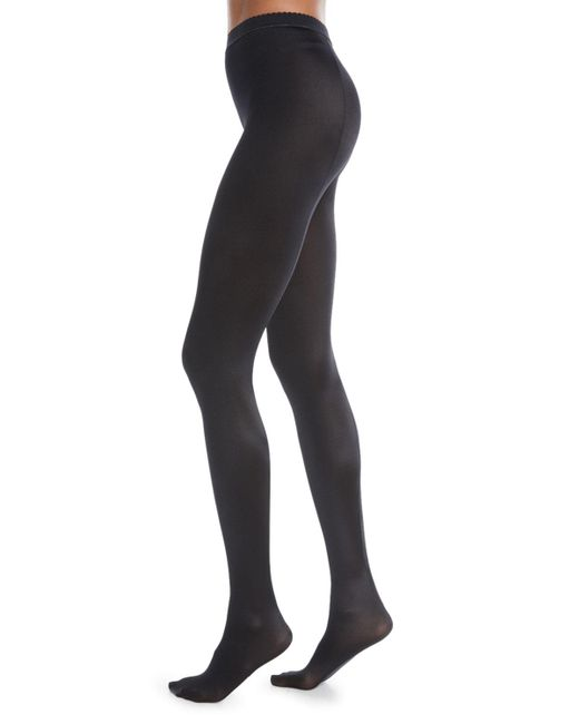 Wolford - Black Satin De Luxe Tights - Lyst